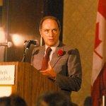 Pierre Trudeau speaks in Montreal in 1980.