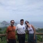 Leon Fink, Paulo Fontes, and Larissa Rosa Correa at the Tijuca Forest